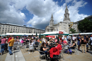 Leeds Food and Drink Festival, Millennium Square, Leeds....SH1001431d...8th June 2014 Picture by Simon Hulme